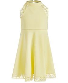 Bonnie Jean Little Girls Textured Halter-Neck Dress