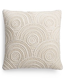 "Victoria Pearl Beaded 20"" x 20"" Throw Pillow"