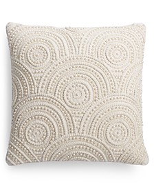 "Small World Home Victoria Pearl Beaded 20"" x 20"" Throw Pillow"
