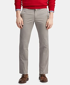 Polo Ralph Lauren Men's Stretch Straight Fit Twill Flat Pants