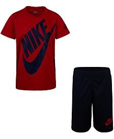 Nike Little Boys 2-Pc. Futura Dri-FIT Logo T-Shirt & Mesh Running Shorts Set