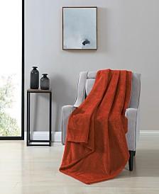 VCNY Victoria Herringbone Oversized Plush Throw Blanket