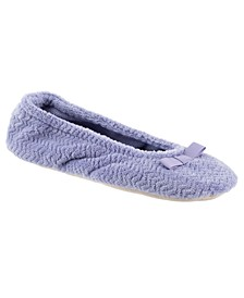 Isotoner Chevron Microterry Ballerina Slipper, Online Only