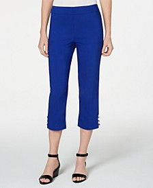 Petite Studded Capri Pants, Created for Macy's