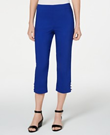 JM Collection Petite Studded Capri Pants, Created for Macy's