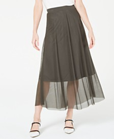 Alfani Pull-On A-Line Midi Skirt, Created for Macy's