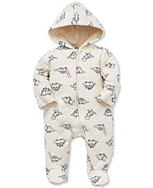 Baby Boys Cotton Dino-Print Quilted Coverall