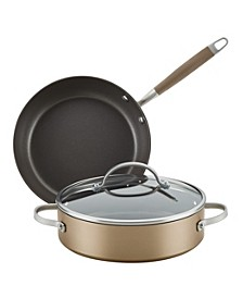 Advanced Home Hard-Anodized Nonstick 3-Pc. Cookware Set