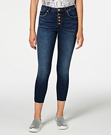Ellie Button-Fly Ankle Skinny Jeans