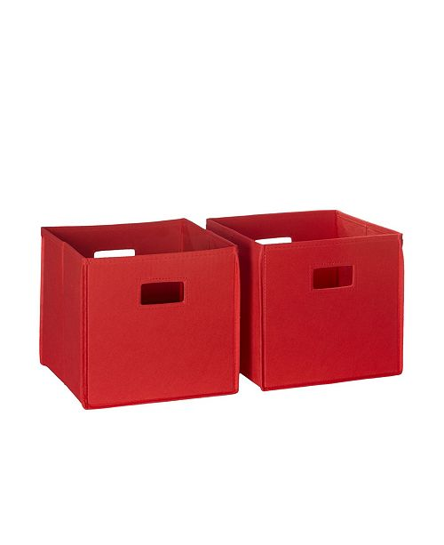 RiverRidge Home RiverRidge 2 Pc Folding Storage Bin Set