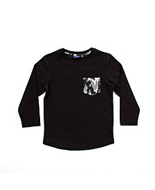 Bear Camp Toddler Boy Long Sleeve Pocket Tee