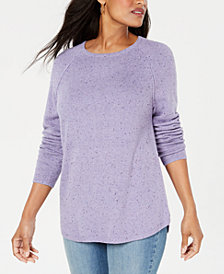 Karen Scott Curved-Hem Sweater, Created for Macy's
