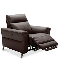 """CLOSEOUT! Raymere 41"""" Leather Power Motion Recliner"""