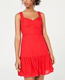 City Studios Juniors' Ruffled Tie-Back Dress