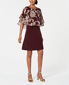 Petite Printed Popover A-Line Dress