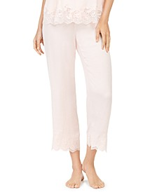 Fairtytale Lace-Trim Satin Sleep Pants