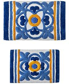 Tile Medallion 2-Pc. Tufted Bath Rug Set