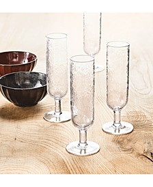 CLOSEOUT! Textured Flutes, Set of 4, Created for Macy's