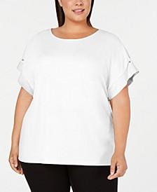 Plus Size Short-Sleeve Top