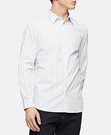 Men's Slim-Fit Dobby Stripe Shirt