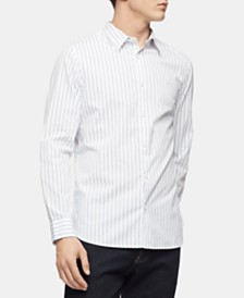 Calvin Klein Men's Slim-Fit Dobby Stripe Shirt