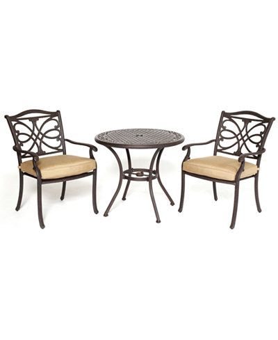 CLOSEOUT! Kingsley Outdoor Cast Aluminum 3-Pc. Dining Set (32