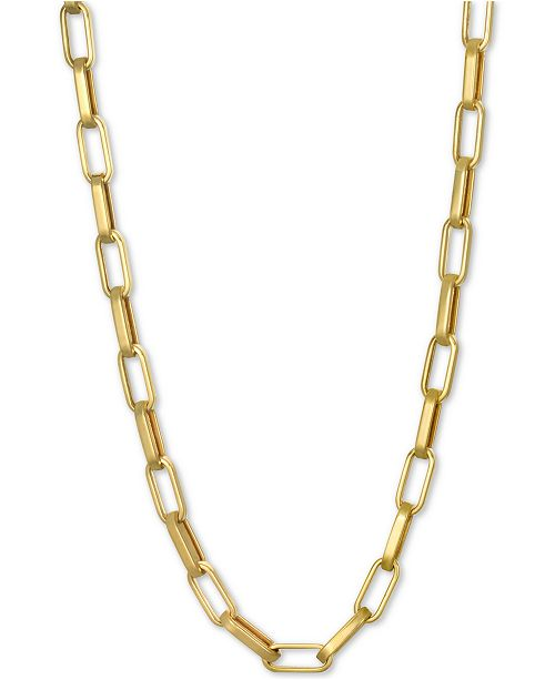 """Macy's Paperclip Link Chain 22"""" Chain Necklace in 14k Gold"""