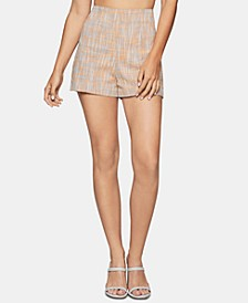 Textured Basket-Weave Shorts