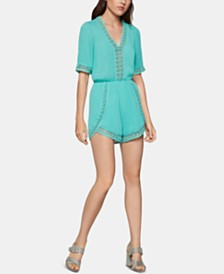 BCBGeneration Crochet-Trim Romper