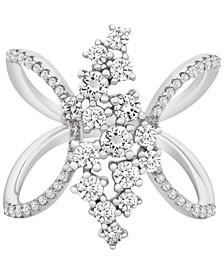 Diamond Open-Work Ring (1 ct. t.w.) in 14k White Gold
