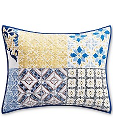 Martha Stewart Collection La Dolce Vita Patchwork Standard Sham, Created for Macy's