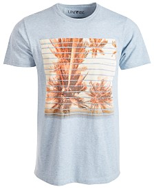 Univibe Men's Palm Lines Graphic T-Shirt