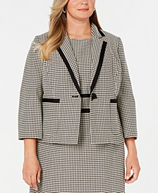 Plus Size Printed Blazer