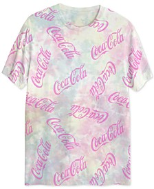 Coca-Cola Men's UV Sunlight Activated Tie Dyed Graphic T-Shirt