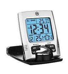 Travel Alarm Clock with Calendar and Temperature