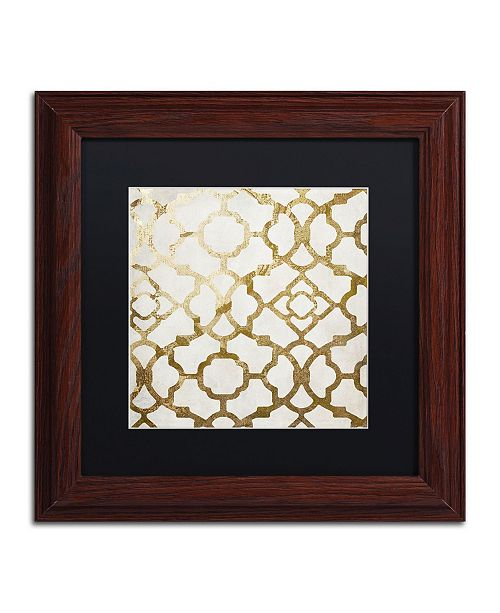 """Trademark Global Color Bakery 'Moroccan Gold II' Matted Framed Art - 11"""" x 11"""""""