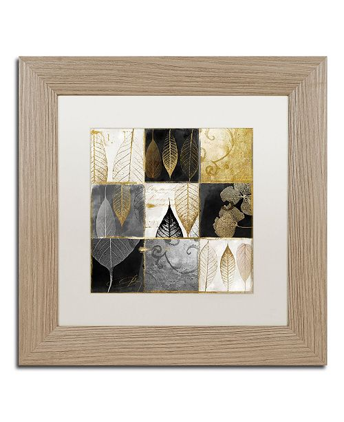 "Trademark Global Color Bakery 'Fallen Gold III' Matted Framed Art - 11"" x 11"""