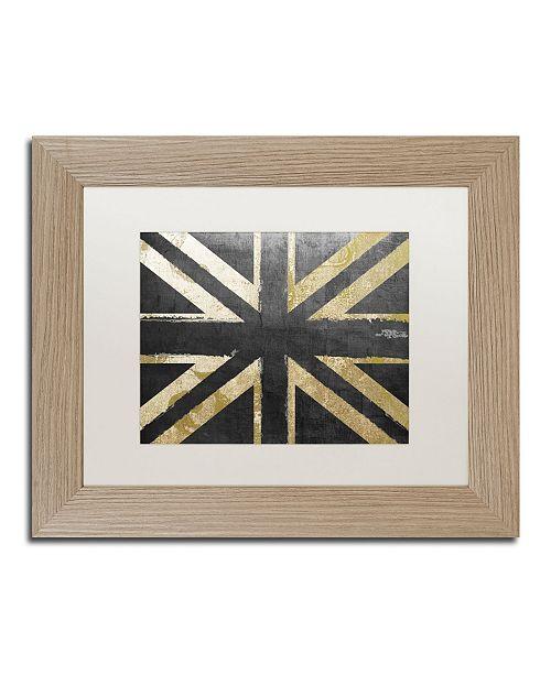 "Trademark Global Color Bakery 'Fashion Flag IV' Matted Framed Art - 11"" x 14"""