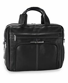 Columbian Leather Expandable Double Gusset Laptop Briefcase
