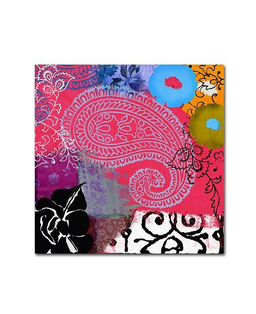 """Trademark Global Color Bakery 'Bali III' Canvas Art - 35"""" x 35"""""""