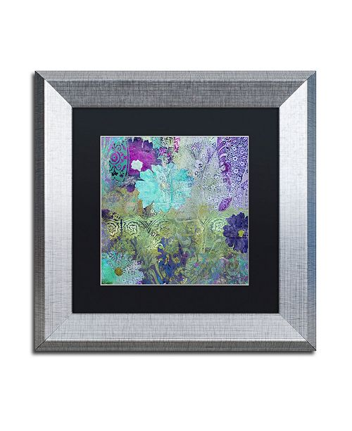 "Trademark Global Color Bakery 'Kismet' Matted Framed Art - 11"" x 11"""