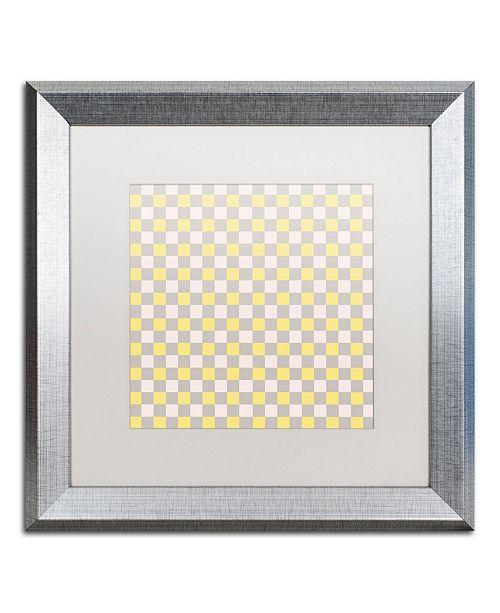 "Trademark Global Color Bakery 'English Garden IV' Matted Framed Art - 16"" x 16"""