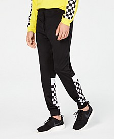 Men's Checkerboard Joggers, Created for Macy's