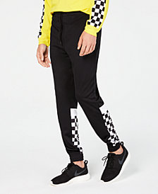ID Ideology Men's Checkerboard Joggers, Created for Macy's