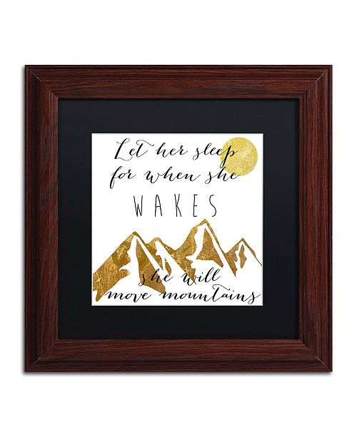 """Trademark Global Color Bakery 'Mountains' Matted Framed Art - 11"""" x 11"""""""