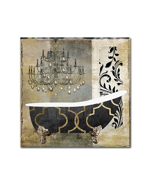 "Trademark Global Color Bakery 'Paris Bath II' Canvas Art - 18"" x 18"""