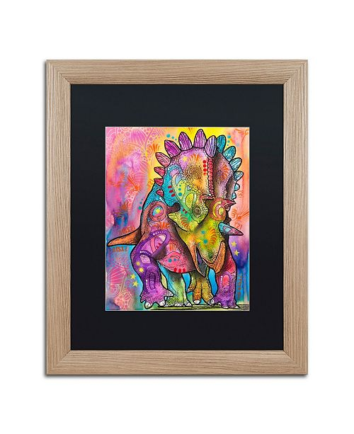 """Trademark Global Dean Russo 'Triceratops' Matted Framed Art - 16"""" x 20"""""""