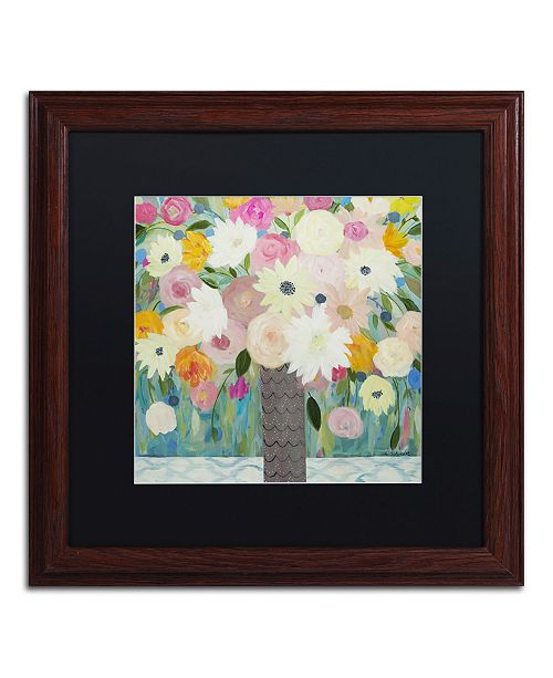 "Trademark Global Carrie Schmitt 'Bask In The Beauty Of It All' Matted Framed Art - 16"" x 16"""