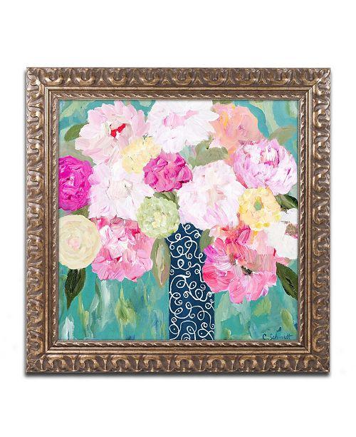 """Trademark Global Carrie Schmitt 'Botanical Splash' Ornate Framed Art - 11"""" x 11"""""""
