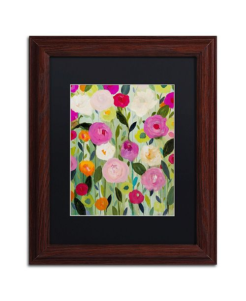 "Trademark Global Carrie Schmitt 'Natures Laugher' Matted Framed Art - 11"" x 14"""